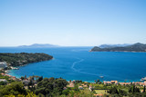 Overlooking the town of Lopud,  Lopud island, Dalmatian coast, Southern Croatia.  One of the Elaphiti islands. - 166452758