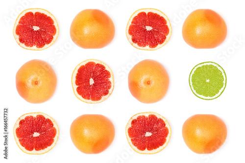 composition of fresh ripe grapefruits