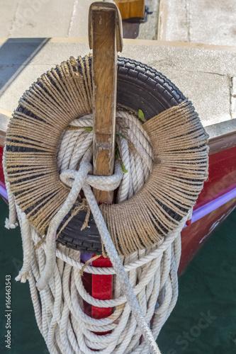 proue de barque de pêche