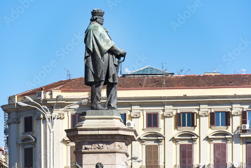 Giuseppe Garibaldi - monument at a square in Naples, Italy