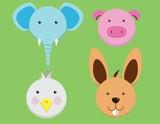 Animal cartoon flat design
