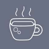 Hot coffee or tea cup icon.