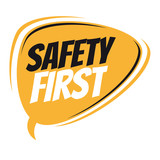 safety first retro speech bubble - 166498763