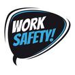 work safety retro vector speech balloon - 166498991