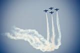 Samolotów na niebie podczas Airshow