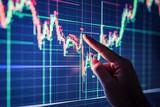 Businessman checking stock market data. - 166502313