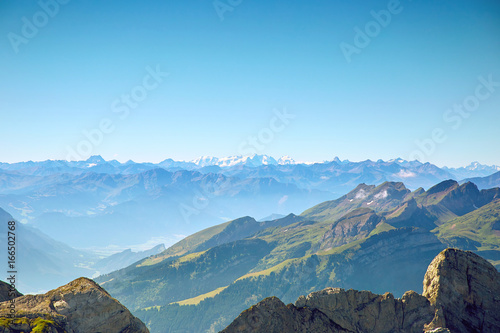 Foto op Plexiglas Pool Saentis Mountain landscape