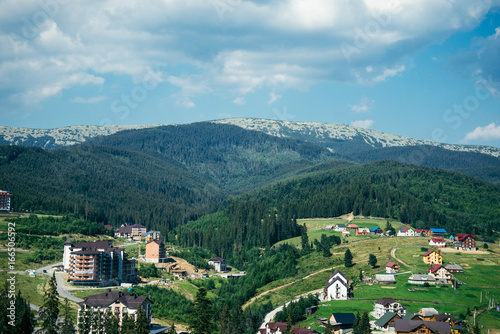 Mountain Village on a Sunny Summer day