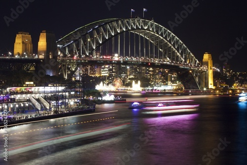 Sydney Harbour Bridge during the Vivid light festival