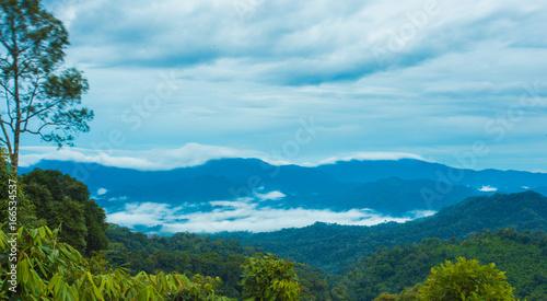 Foto op Plexiglas Pool Mountain Mist
