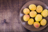 Apricots in a plate