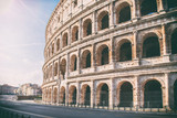 Colosseo all''alba