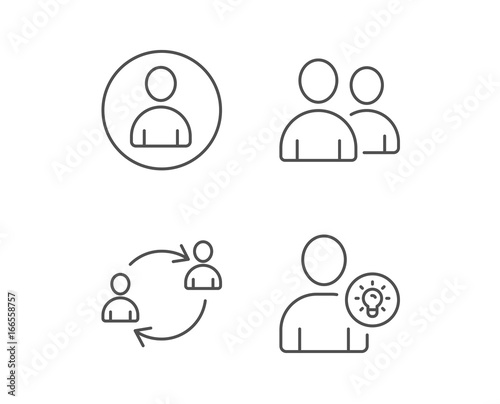User Group, Profile and Teamwork line icons.