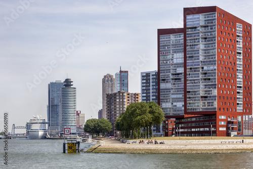 Skyline of Rotterdam Katendrecht