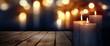 Leinwanddruck Bild - Burning candles in the darkness