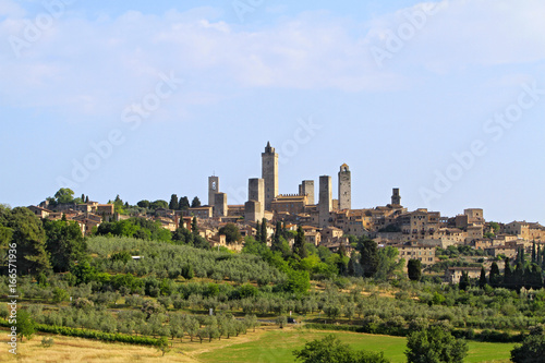 View of San Gimignano, Tuscany, Italy, Europe