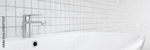 modern washing basin panorama Poster