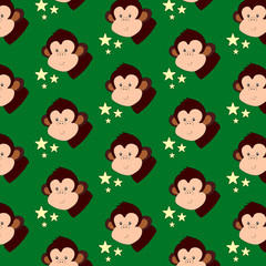 Monkey pattern for cups, t-shirts, cards, wallpapers