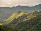 Mountain view with sunlight in Khao Yai National Park, Thailand