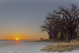 Zachód słońca na Baines Baobab's