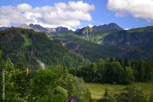 Góry Tatry - widok z Antałówki