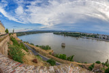 View of Petrovaradin Fortress and Danube river - 166621584