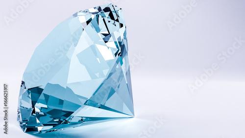 3d odpłacają się błękitny diament z białym tłem