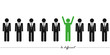 be differnet business piktogramm