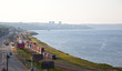 Halifax, Nova Scotia with ocean and train