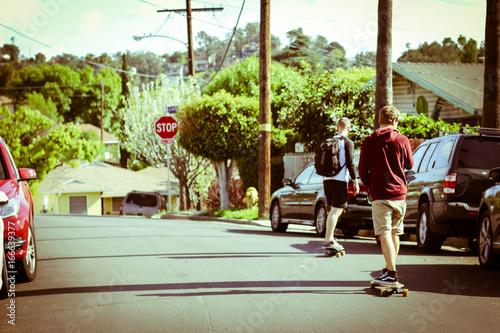 Foto op Aluminium Skateboard skateboard riding in california