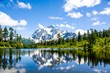 Mt. Shuksan reflected in Picture lake at North Cascades National Park, Washington, USA