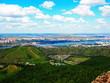 view of the city Krasnoyarsk from the rock Takmak - 166648513