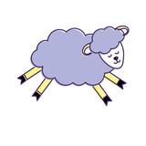 cute sheep animal with wool design - 166673195