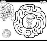 maze activity gtame with children
