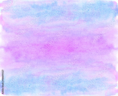 Watercolor blue and violet background - 166693527