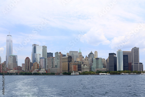 Lower Manhattan and One World Trade Center in New York City Poster