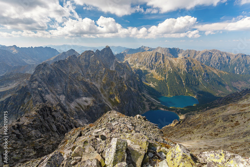 Fototapety, obrazy : High Tatra Mountains, aerial view from Rysy peak