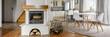 Quadro White brick fireplace