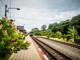 Fototapeta train station in countrysie