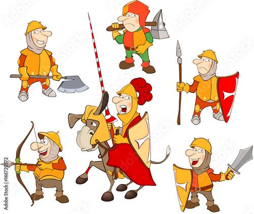 Foto op Aluminium Babykamer Set of Cartoon Illustration. A Cute Knights for you Design