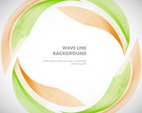 Elegant abstract vector wave line futuristic style background template - 166720903