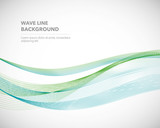 Elegant abstract vector wave line futuristic style background template - 166720928