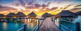 Sonnenuntergang Panorama am Meer