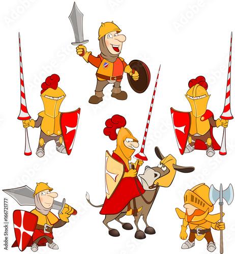 Papiers peints Chambre bébé Set of Cartoon Illustration. A Cute Knights for you Design