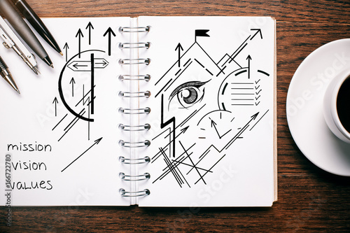 Vision sketch in notepad - 166722780