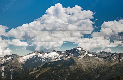 Fotobehang Vestingwerk Bergpanorama, Gastein, Österreich