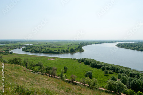 View of the confluence of the Toima river into the Kama river, Elabuga, Tatarstan, Russian Federation