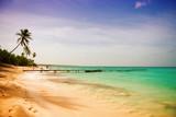 Coast of the Caribbean Sea. Travel around the world's paradises.