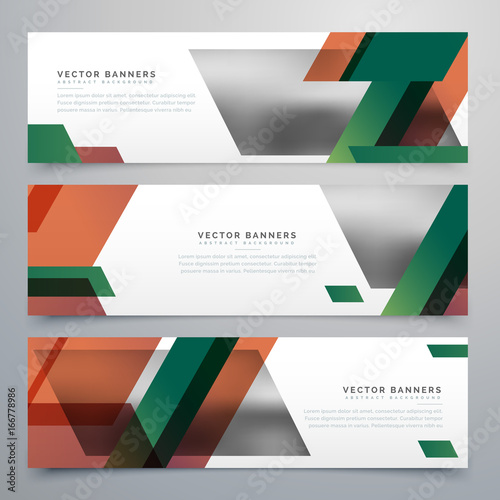 Wall mural business banners with abstract geometric shapes