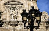 Barceloneta quarter, church, iglesia Sant Miquel del Port, baroque style, maritime quarter of Barcelona.
